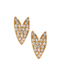 Tai Gold Plated Crystal Heart Stud Earrings