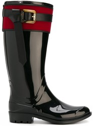Burberry Buckle Detail Rainboots Black