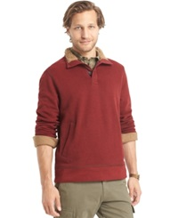 G.H. Bass And Co. Faux Fur Fleece Mock Sweater Sundried Tomato