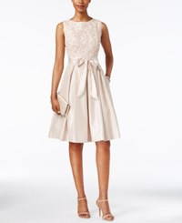 Jessica Howard Sleeveless Soutache Fit And Flare Dress Champagne