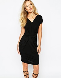 Supertrash Dunster Bodycon Ruched Dress Black
