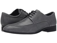 Calvin Klein Valient Dark Grey Textured Leather Men's Slip On Dress Shoes Gray