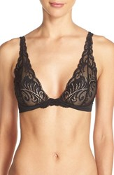 Women's Natori 'Feathers' Convertible Wireless Plunge Bra Black