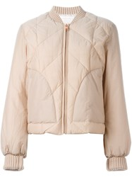 See By Chloe Quilted Puffer Jacket Nude And Neutrals