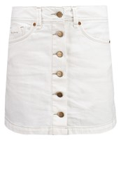 Pepe Jeans Khloe Mini Skirt X79 White Denim