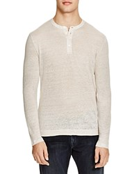 The Men's Store At Bloomingdale's Slub Linen Long Sleeve Henley Tee Natural Linen Flax