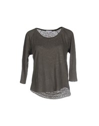 James Perse Standard Topwear T Shirts Women Military Green