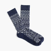 J.Crew Jacquard Performance Socks