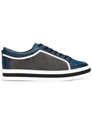 Sergio Rossi Panelled Sneakers Blue