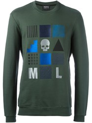 Markus Lupfer Embroidered Shapes Sweatshirt Green