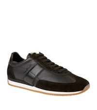 Tom Ford Leather Panelled Trainers Male Black