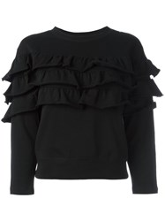 Diesel Ruffled Sweatshirt Black