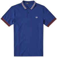 Fred Perry Stripe Collar Polo Blue