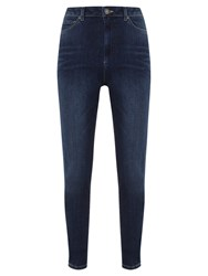 Mint Velvet Langley High Waisted Skinny Jeans Dark Indigo