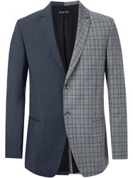 Wan Hung Cheung Contrast Tailored Jacket Black