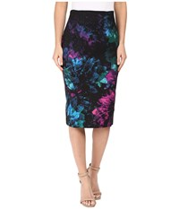 Ellen Tracy High Waist Pencil Faceted Multi Women's Skirt