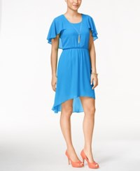 Thalia Sodi Flutter Sleeve High Low Dress Only At Macy's Clear Sky