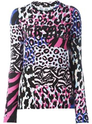 Versace 'Wild Patch' Long Sleeved T Shirt Multicolour