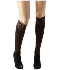 Bootights Lacie Lace Darby Knee High Ankle Sock Chocolate Knee High Hose Brown