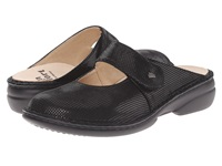 Finn Comfort Stanford Black Points Women's Clog Mule Shoes