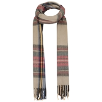 Miss Selfridge Check Scarf Camel