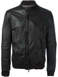 Jacob Cohen Zipped Leather Jacket Brown