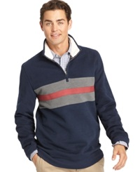 Izod Suede Fleece Quarter Zip Pullover Midnight