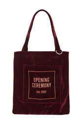 Opening Ceremony Oc Velour Eco Bag Wine