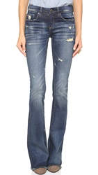 Blank Distressed Flare Jeans D.A.R.E.