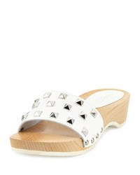 Sesto Meucci Stephy Studded Patent Clog White