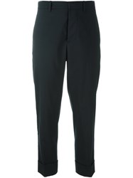 Marni Cropped Tailored Trousers Blue
