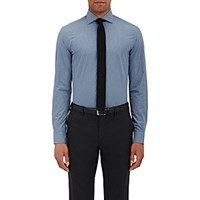 Ralph Lauren Black Label Men's Poplin Button Front Shirt Blue