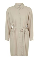 Shirt Dress By Love Taupe