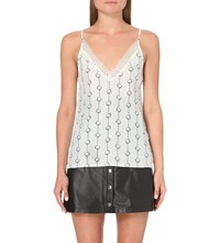 The Kooples Chain Print Silk Camisole Ecr05