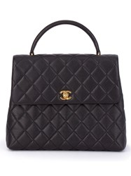 Chanel Vintage Quilted Tote Black