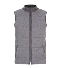 Peter Millar Cambridge Wool And Cashmere Gilet Male Grey