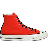 Converse All Star High Top Canvas Trainers Poppy Red Black Wool