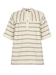 Ace And Jig Saltspring Woven Cotton Top White Black