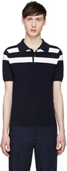 Loewe Navy And White Merino Polo
