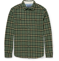 Alex Mill Checked Cotton Flannel Shirt Green