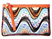 M Missoni Clear Circus Pouch Teal