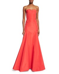 Oscar De La Renta Strapless Sweetheart Mermaid Gown Poppy