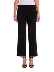 Emilio Pucci Cady Straight Cropped Pants Black