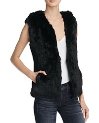 Yves Salomon Meteo By Hooded Fur Vest Black