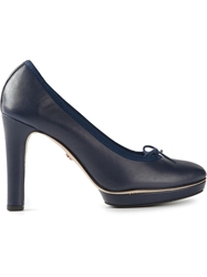 Repetto Bow Detail Platform Pumps Blue