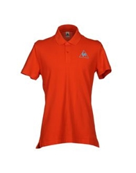 Le Coq Sportif Polo Shirts Orange