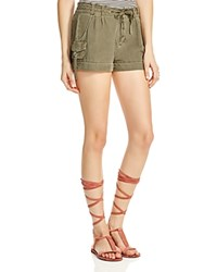 Free People Melvin Soft Roll Cargo Shorts Green