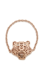 Kenzo Mini Tiger Ring Pink Gold