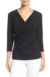 Women's Nic Zoe Solid Faux Wrap Top