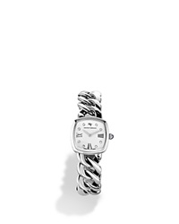 David Yurman Albion Stainless Steel Watch With Diamonds 23Mm White Silver
